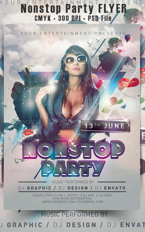 GraphicRiver Nonstop Party Flyer