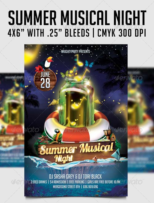 GraphicRiver Summer Musical Night Flyer Template