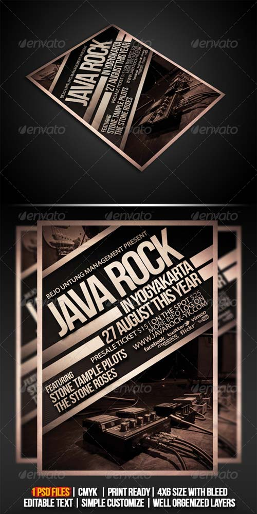 GraphicRiver Java Rock Flyer/ Poster Template