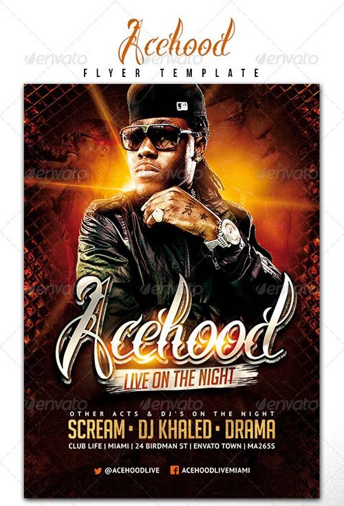 GraphicRiver Acehood Rap Hip Hop flyer