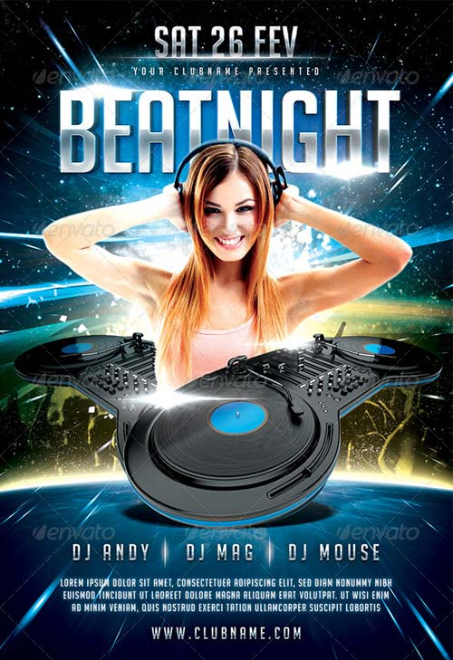 GraphicRiver Beat Night Flyer Template