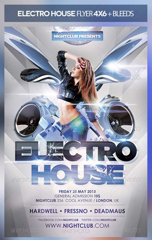 GraphicRiver Electro House Flyer 4963064