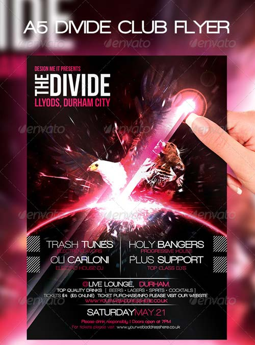 GraphicRiver A5 Club Poster Divide