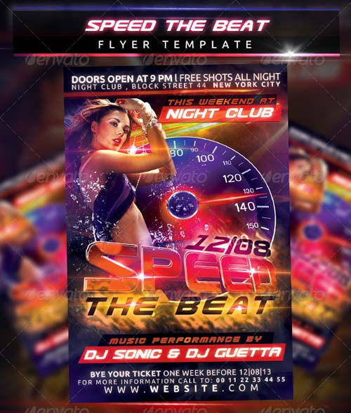 GraphicRiver Speed The Beat Flyer Template