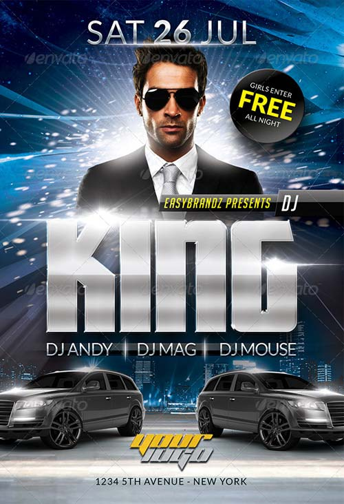 GraphicRiver DJ King Flyer Template
