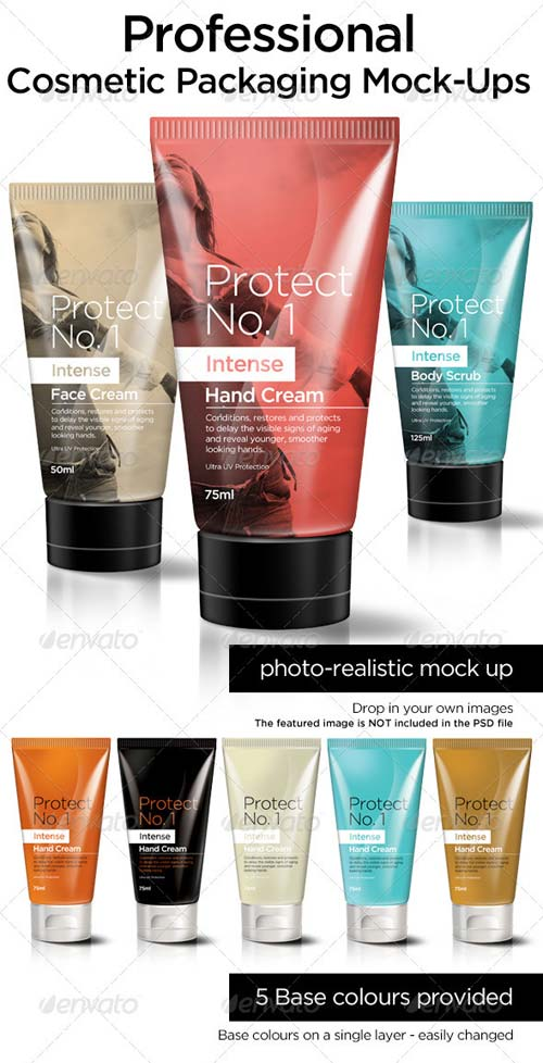 GraphicRiver Cosmetic Packaging Mock Ups