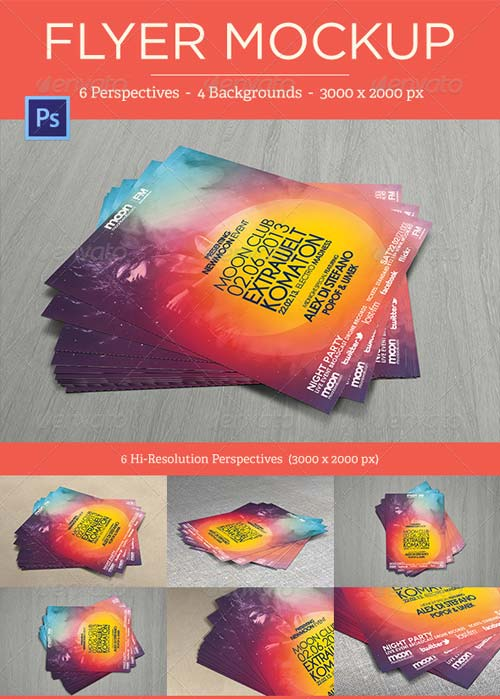 GraphicRiver Flyer Mock-Ups - Vol. 1