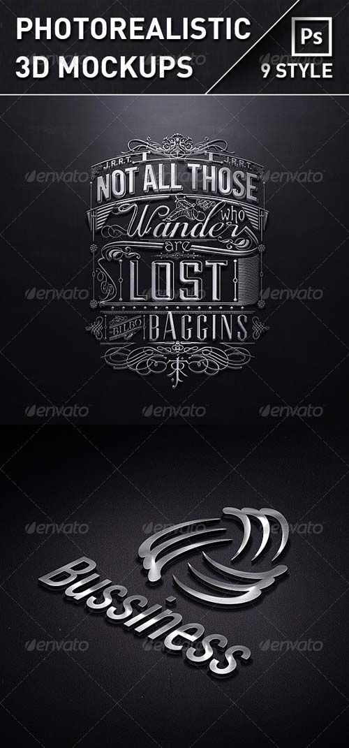 GraphicRiver Photorealistic 3D Mock-Ups