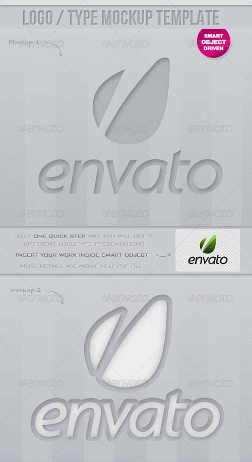 GraphicRiver Smart Logo/Type Mock up Template