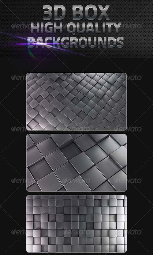 GraphicRiver 3D Cube Backgrounds in High Resolution