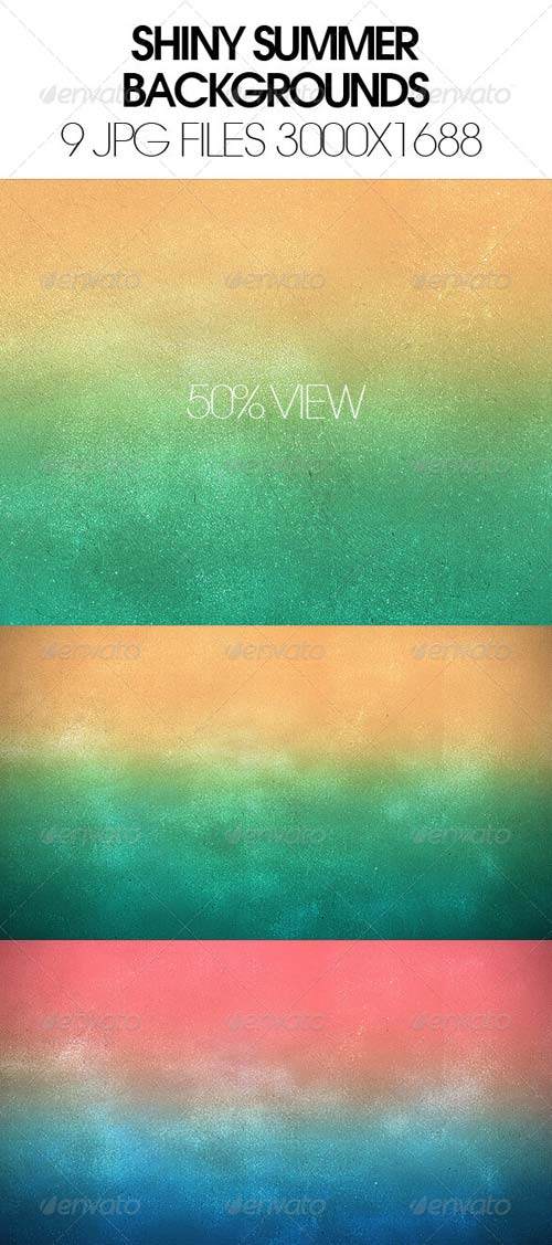 GraphicRiver Shiny Summer Backgrounds