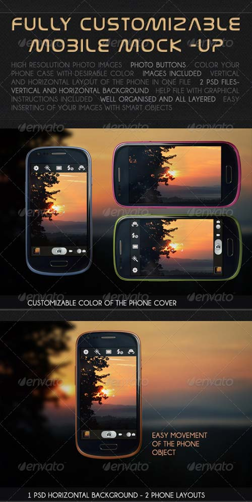 GraphicRiver Mobile Photo / App Mock-up