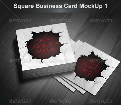 GraphicRiver Square Business Card MockUp 1