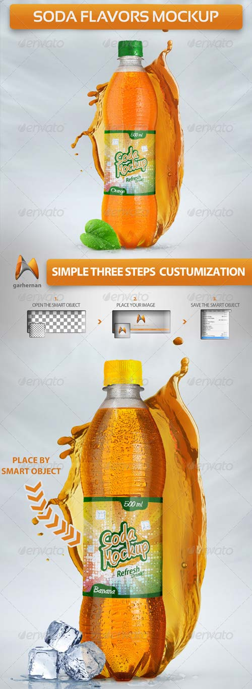 GraphicRiver Soda Flavors Mock-Up