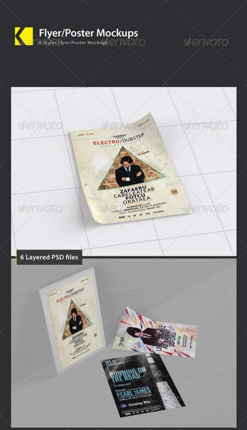 GraphicRiver Flyer/Poster Mockups 5064822