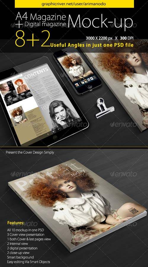 GraphicRiver Magazine Mockup 5007443