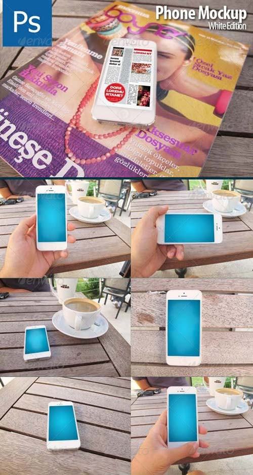 GraphicRiver Phone Mockup White Edition
