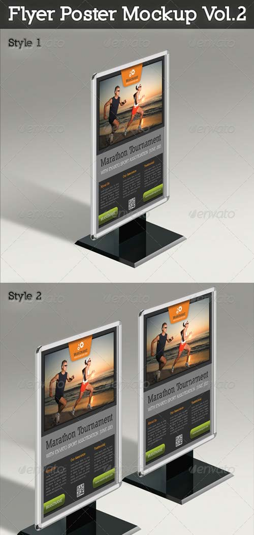 GraphicRiver Flyer And Poster Mockup Vol.2