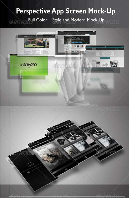 GraphicRiver Perspective App Screen Mock-Up