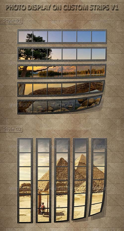 GraphicRiver Photo Display on Custom Strips V1