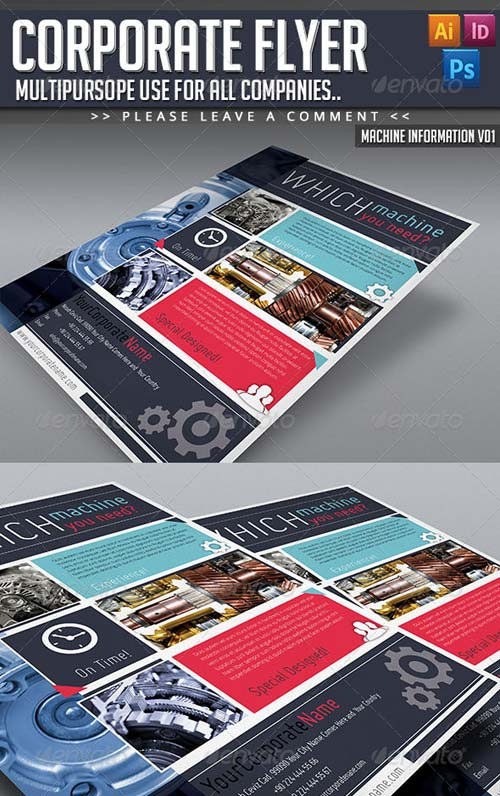 GraphicRiver Corporate Flyer - Machine Informations V01