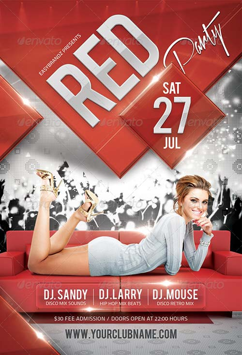GraphicRiver Red Flyer Template