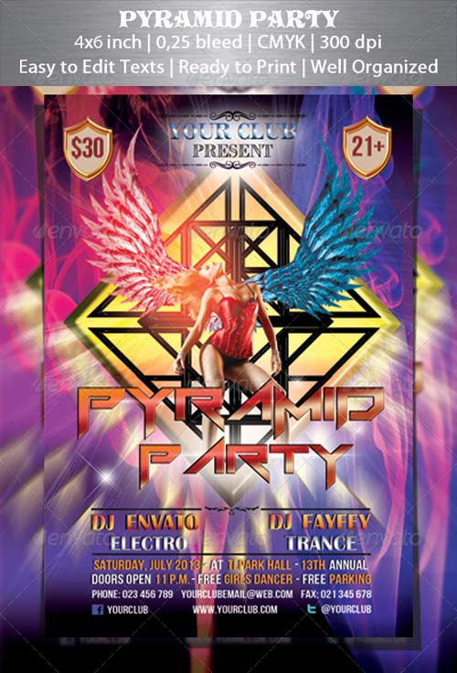 GraphicRiver Pyramid Party Flyer