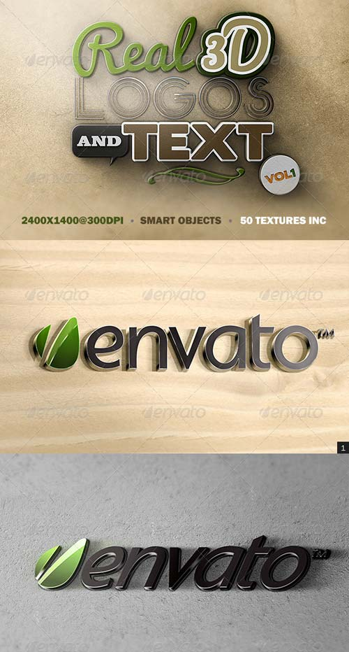 GraphicRiver Real 3D Logos and Text - Vol1