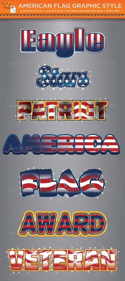 GraphicRiver American Flag Graphic Styles