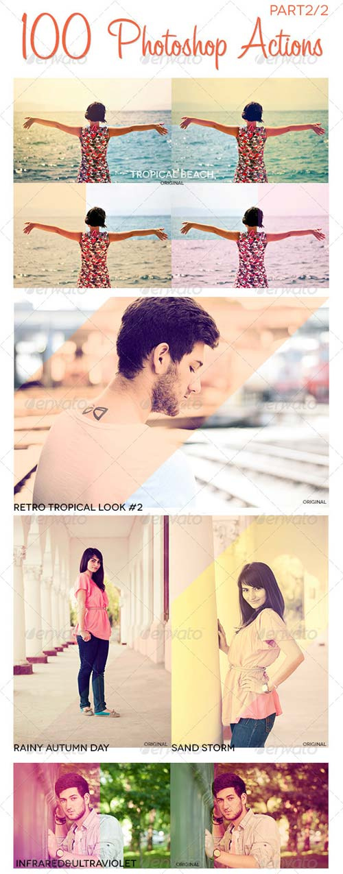 GraphicRiver 100 Photoshop Actions Photo Effects Part 2