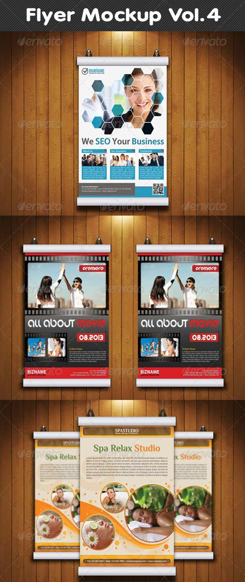 GraphicRiver Flyer Mockup Vol.4