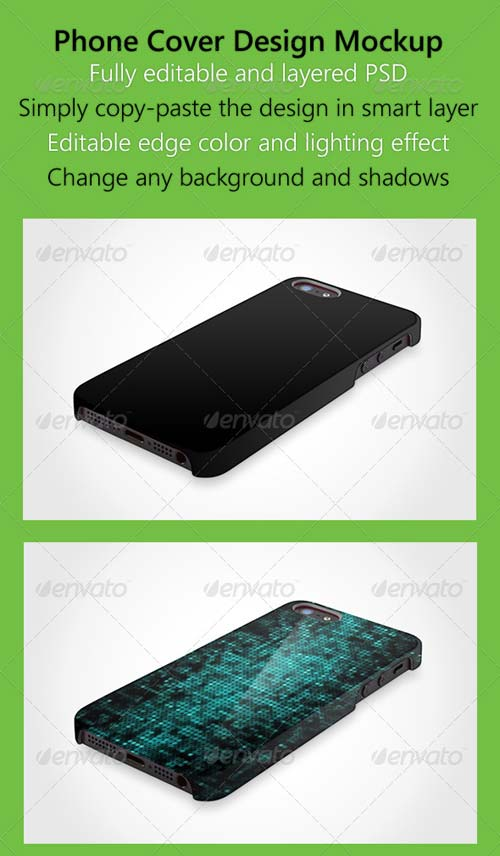 GraphicRiver Phone 5 Hard Case Skin Mock up