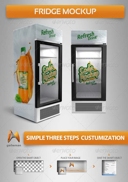 GraphicRiver Fridge Mockup