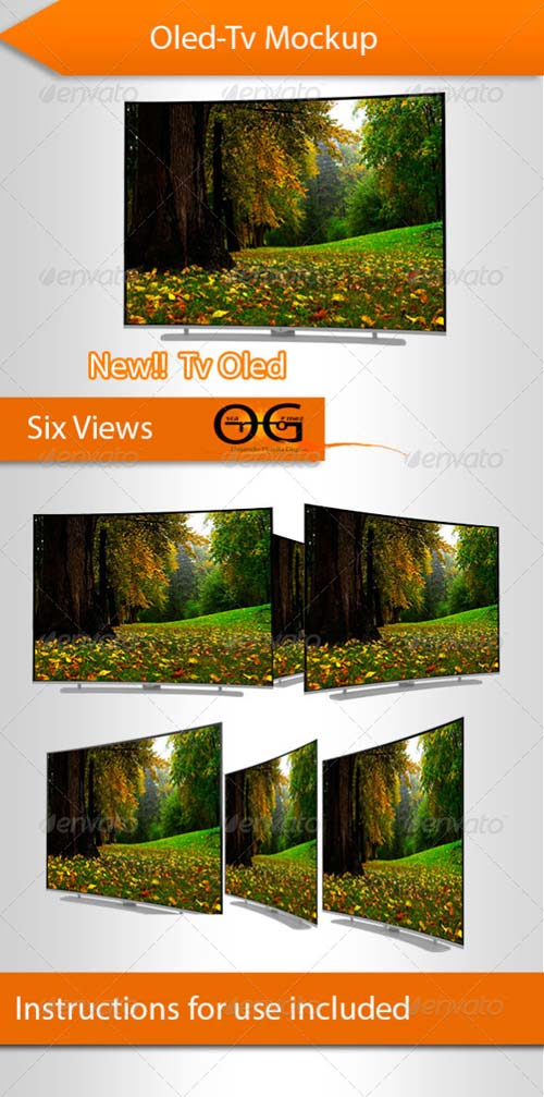 GraphicRiver Tv Oled Mockup