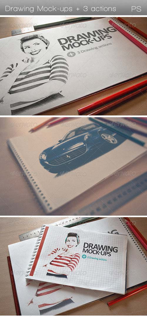 GraphicRiver Drawing Mock-ups