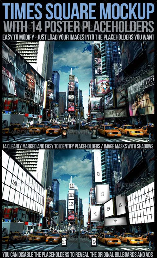 GraphicRiver Times Square Mockup