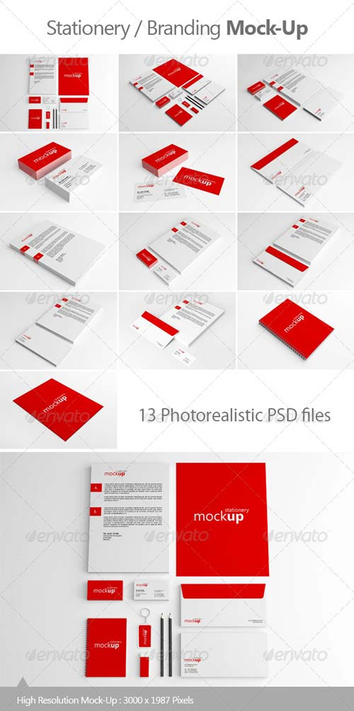 GraphicRiver Stationery / Branding Mock-Up 5143412
