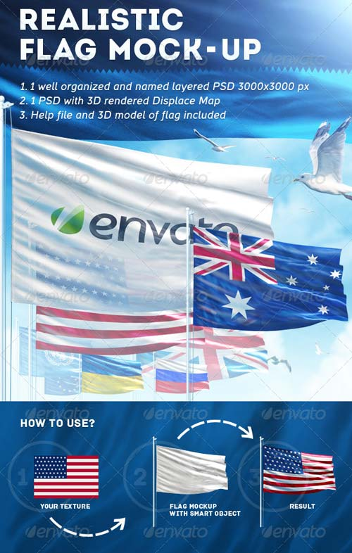 GraphicRiver Realistic Flag Mock-Up