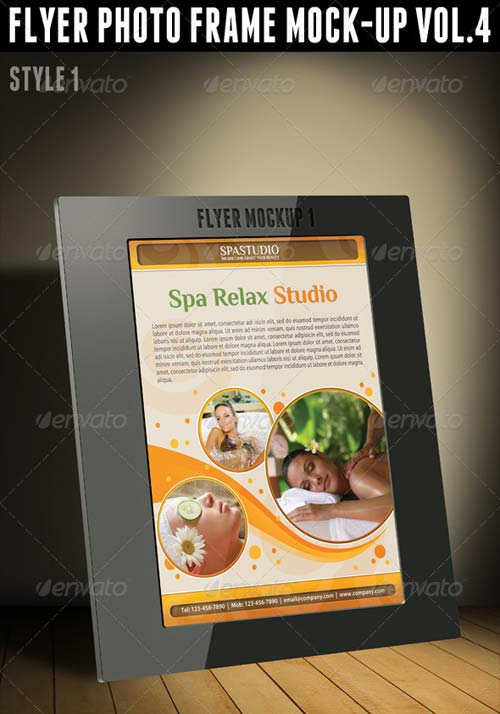 GraphicRiver Flyer Photo Frame Mock-Up Vol.4