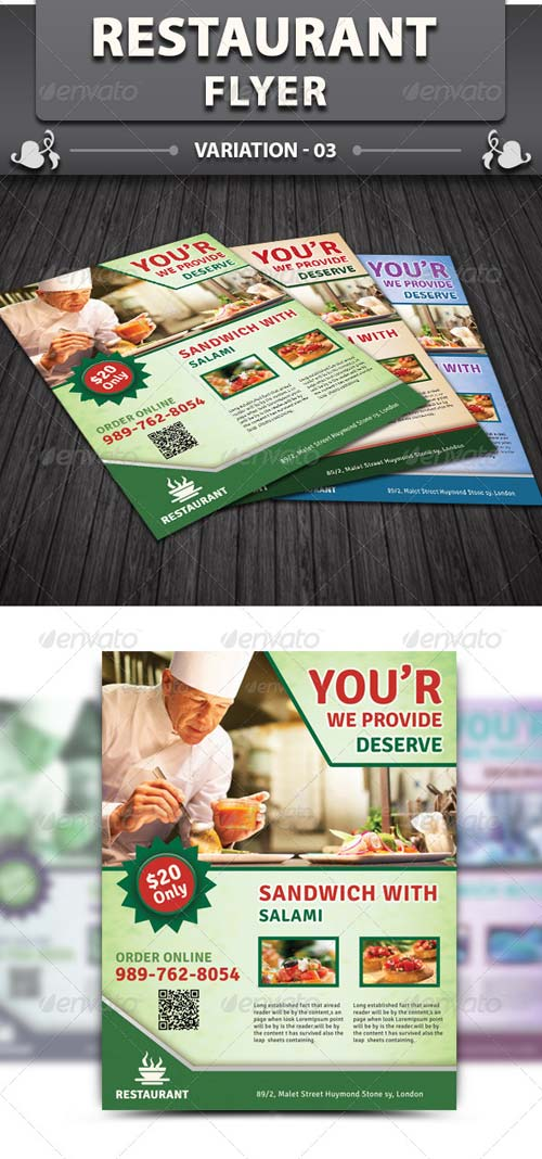 GraphicRiver Restaurant Flyer