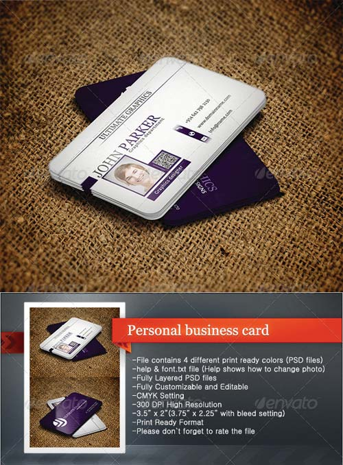 GraphicRiver Personal Business Card 4629330