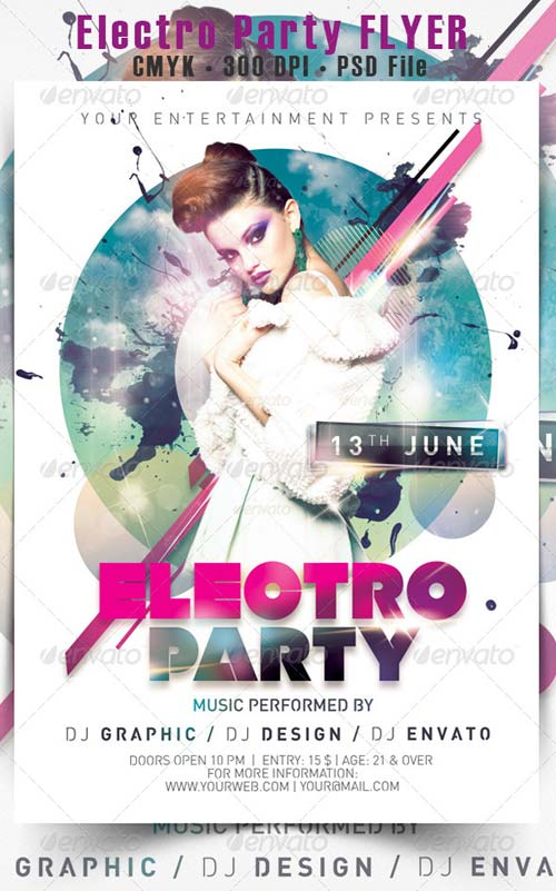 GraphicRiver Electro Party Flyer 5109961