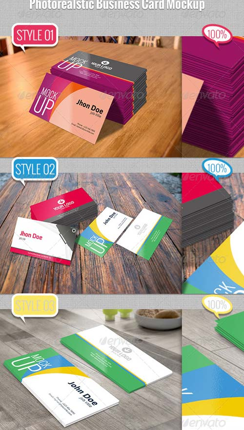 GraphicRiver Photorealstic Business Card Mockup