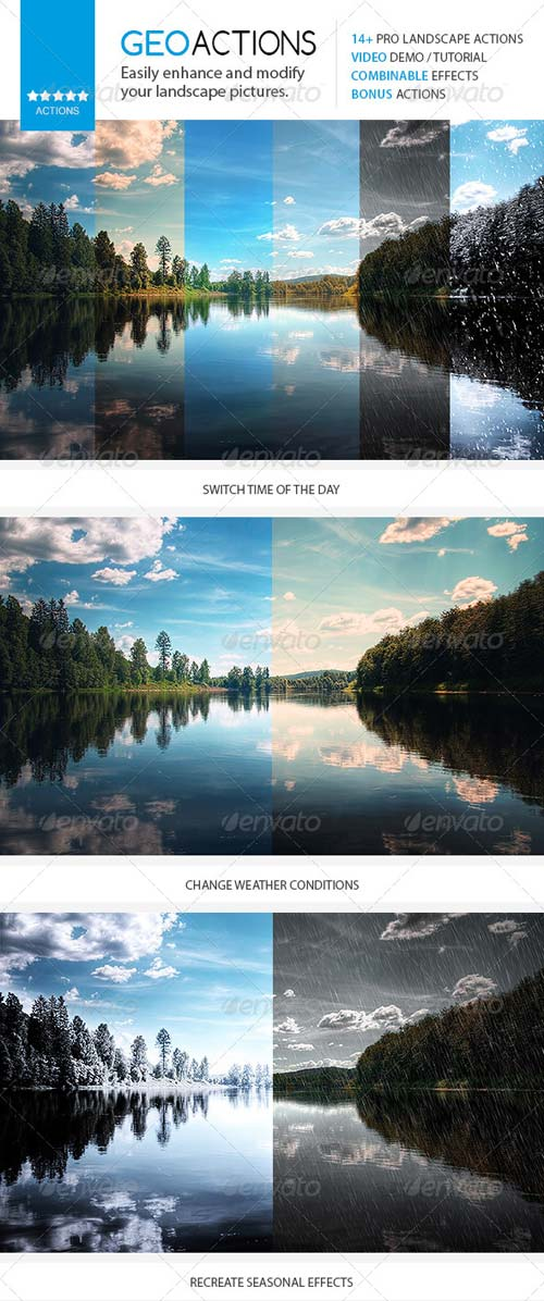 GraphicRiver GEO - Premium Nature / Landscape Actions Set
