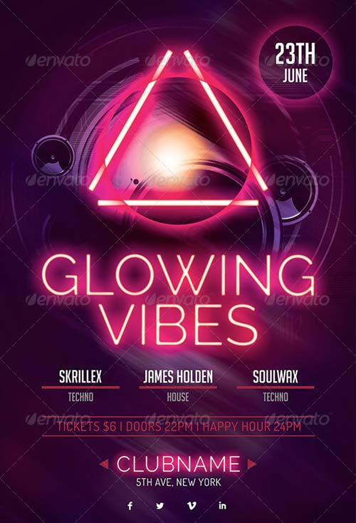 GraphicRiver Glowing Vibes Flyer