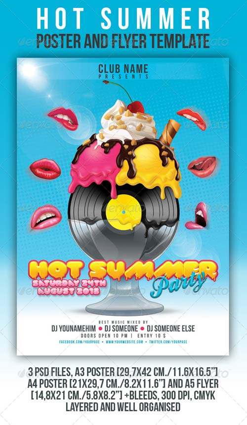 GraphicRiver Hot Summer Poster and Flyer Template