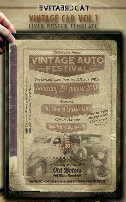 GraphicRiver Vintage Car Flyer/Poster Vol.1