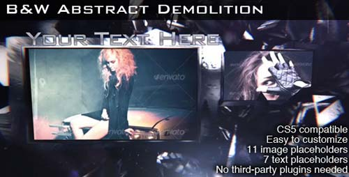 B&W Abstract Demolition - After Effects Project (Videohive)