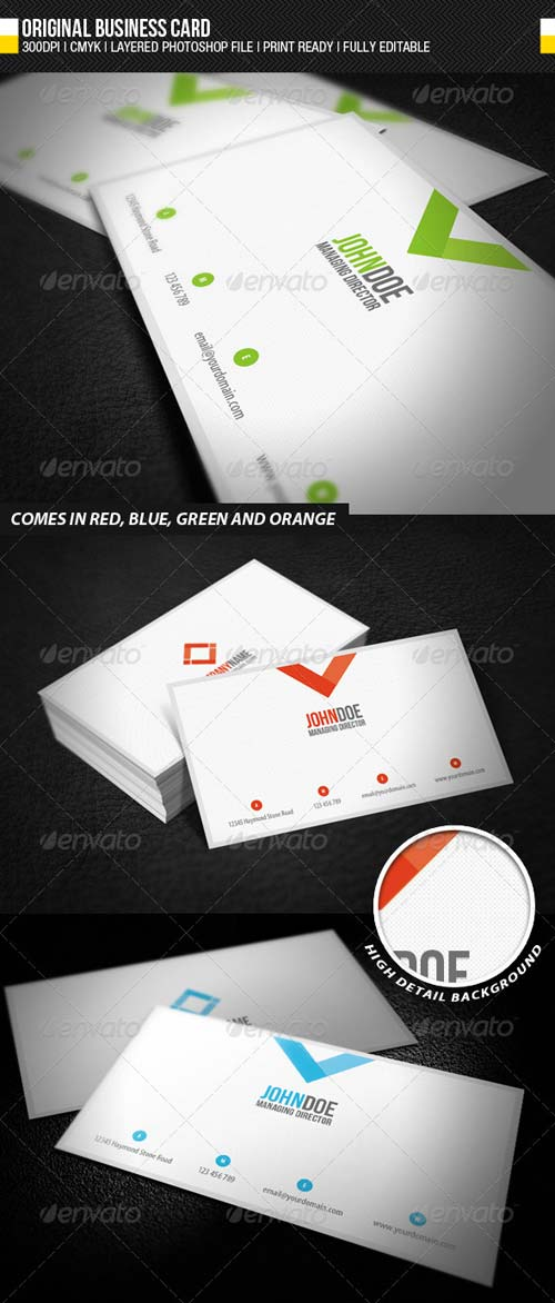 GraphicRiver Original Business Card