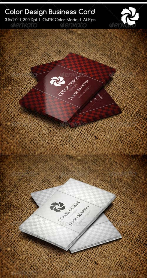 GraphicRiver Checkered Business Cards